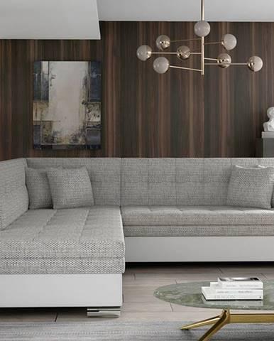 Pescara L rohová sedačka s rozkladom sivá (Berlin 01)