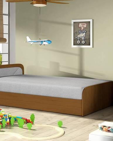Pinerolo 80 L jednolôžková posteľ (váľanda) s úložným priestorom svetlosivá