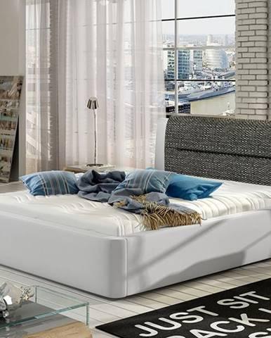 Portima 160 čalúnená manželská posteľ biela (Soft 17)