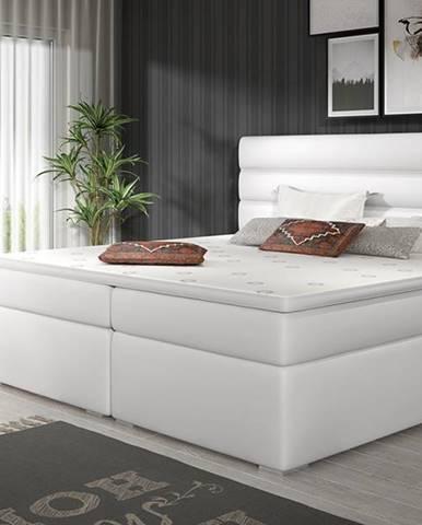 Spezia 180 čalúnená manželská posteľ s úložným priestorom biela