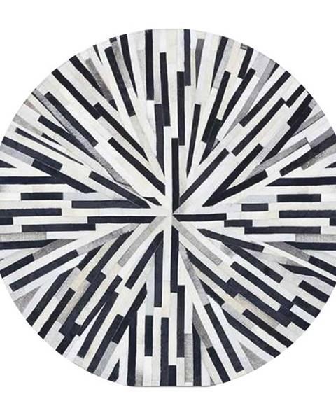 Kondela Typ 8 kožený koberec 150x150 cm vzor patchwork