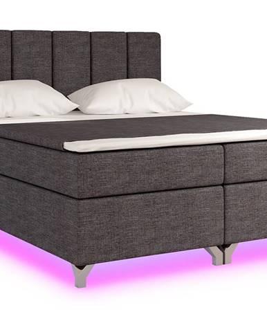 Barino 160 čalúnená manželská posteľ s úložným priestorom sivá (Sawana 05)