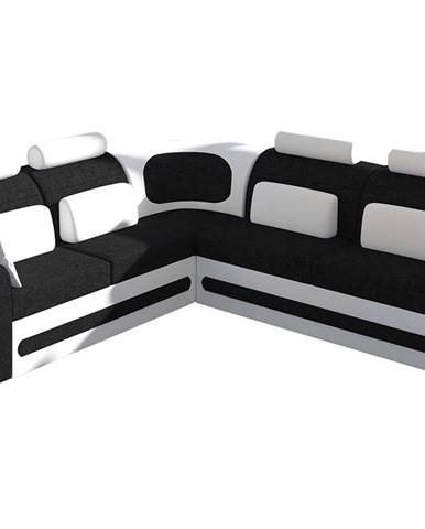 Bolzano L rohová sedačka s rozkladom a úložným priestorom čierna (Sawana 14)