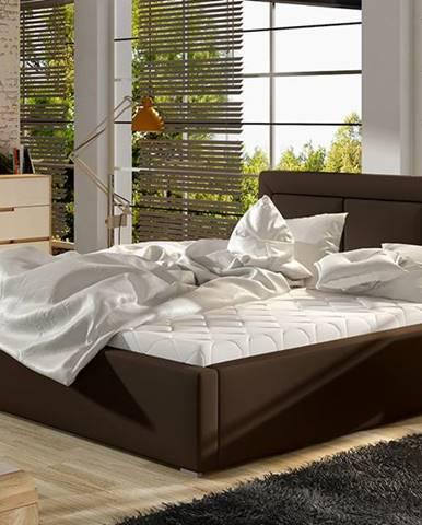 Branco 160 čalúnená manželská posteľ s roštom tmavohnedá (Soft 66)