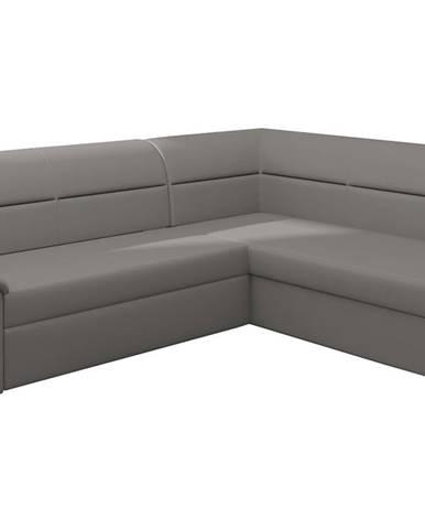 Estrela P rohová sedačka s rozkladom a úložným priestorom sivá (Soft 29)