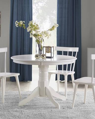 Gloster okrúhly jedálenský stôl biely lesk