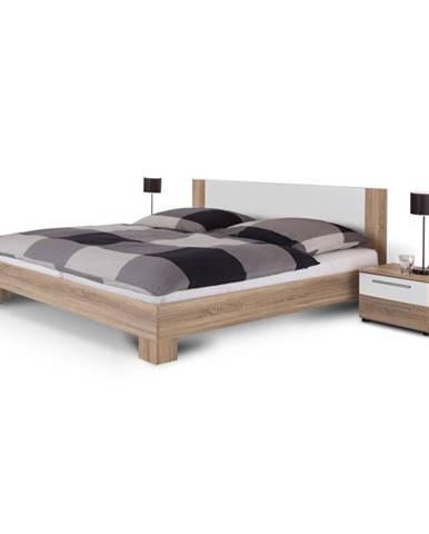 Martina 180 manželská posteľ s nočnými stolíkmi (2 ks) dub sonoma