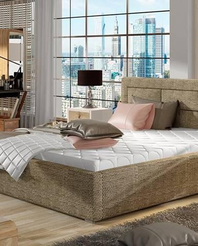 Rovigo 140 čalúnená manželská posteľ s roštom cappuccino