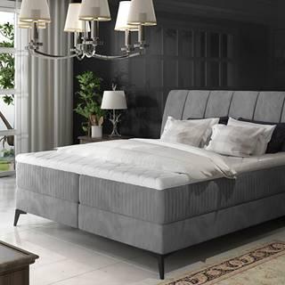 Altama 180 čalúnená manželská posteľ s úložným priestorom sivá (Jasmine 90)