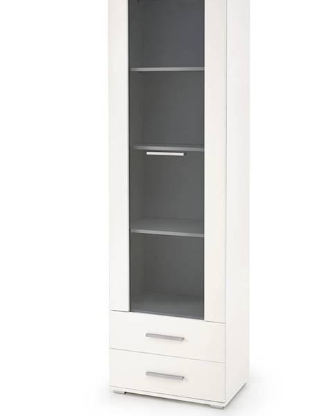 Halmar Lima W1 vitrína biela
