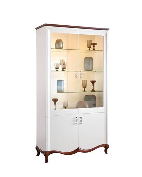 TARANKO Milano MI-W2 rustikálna vitrína biela