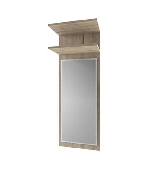 Tempo Kondela Orestes 40 panel so zrkadlom dub san remo