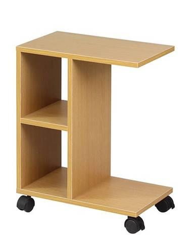 Abbas New príručný stolík na kolieskach borovica