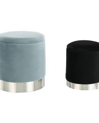 Aigul Set taburetka s úložným priestorom (2 ks) sivá