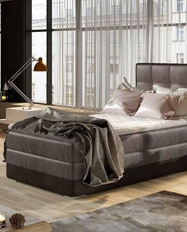 Alessandra 90 P čalúnená jednolôžková posteľ hnedá