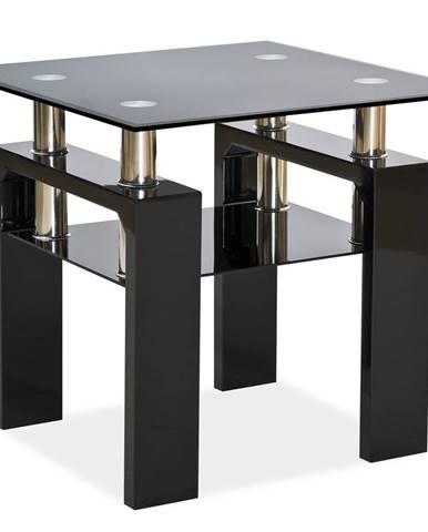 Lisa D konferenčný stolík čierny lesk