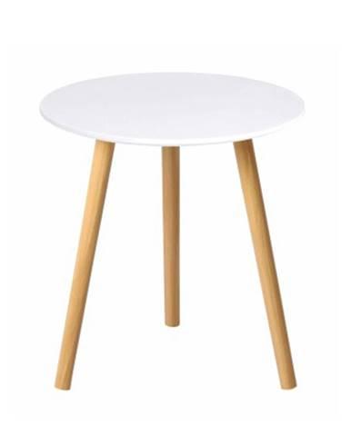 Pamino okrúhly príručný stolík biela