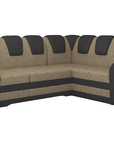 NABBI Latino II P rohová sedačka s rozkladom a úložným priestorom cappuccino