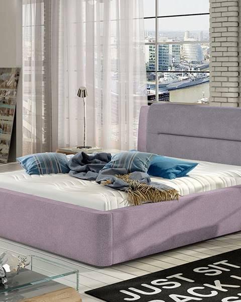 NABBI Portima 180 čalúnená manželská posteľ ružová