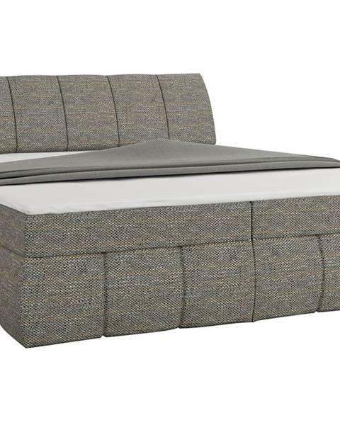 NABBI Vareso 180 čalúnená manželská posteľ s úložným priestorom sivá (Berlin 01)
