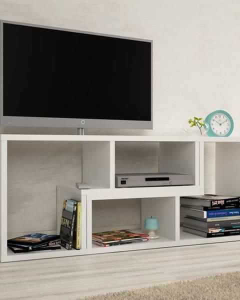 Kondela Vario univerzálny tv stolík biela