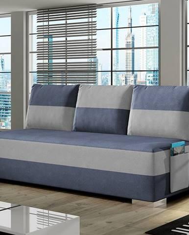 Adria rozkladacia pohovka s úložným priestorom modrá