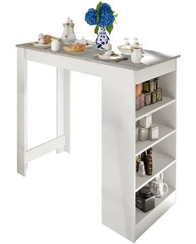 Austen barový stôl biela