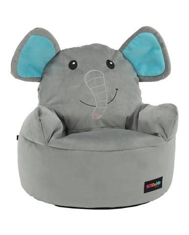 Baby Typ 2 sedací vak sivá