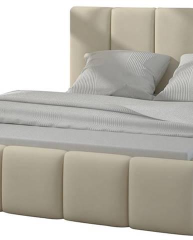 Evora 180 čalúnená manželská posteľ béžová