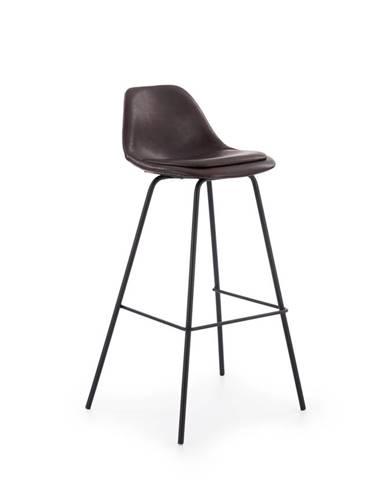 H-90 barová stolička tmavohnedá