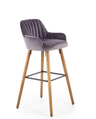H-93 barová stolička tmavosivá