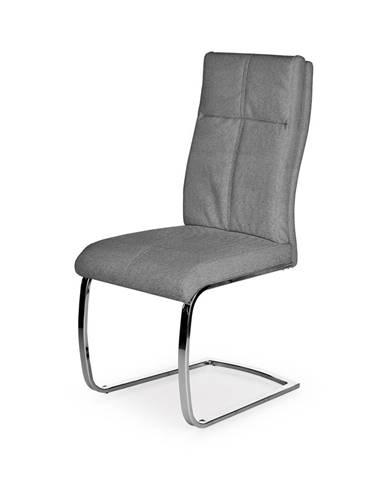 K345 jedálenská stolička sivá