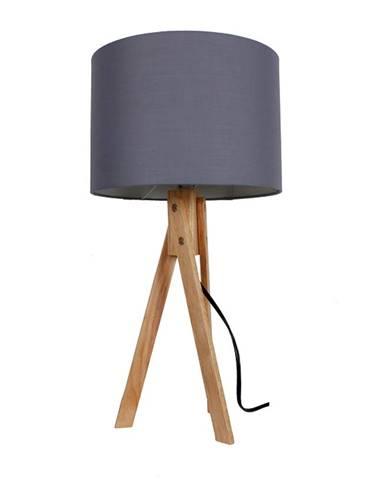 Lila Typ 2 stolná lampa sivá