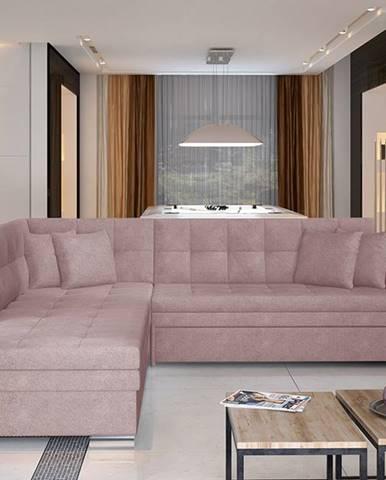 Pescara L rohová sedačka s rozkladom ružová (Soro 61)