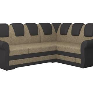 Latino II P rohová sedačka s rozkladom a úložným priestorom cappuccino