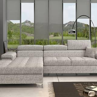 Rosino L rohová sedačka s rozkladom a úložným priestorom sivá