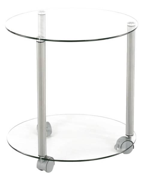 Tempo Kondela Talan príručný stolík na kolieskach sivá