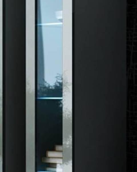 CAMA MEBLE Vigo 180 vitrína na stenu so sklom sivá
