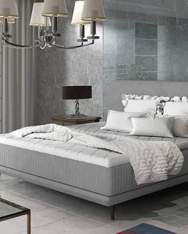 Ancona 180 čalúnená manželská posteľ sivá (Jasmine 90)