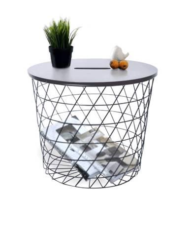 Batis Typ3 okrúhly príručný stolík grafit