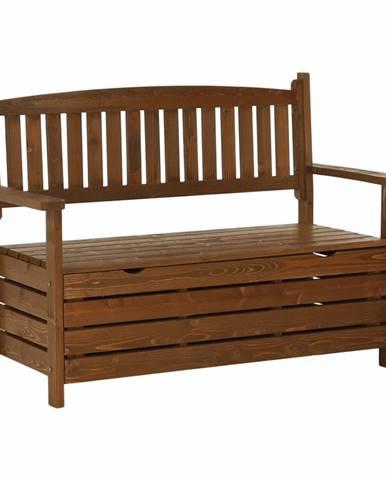 Dilka záhradná lavička s úložným priestorom hnedá