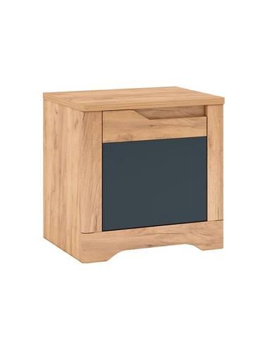Fidel X1 L nočný stolík dub craft zlatý