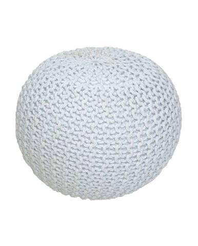 Gobi Typ 2 pletená taburetka smotanová
