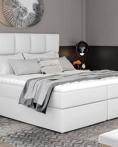 Grosio 165 čalúnená manželská posteľ s úložným priestorom biela