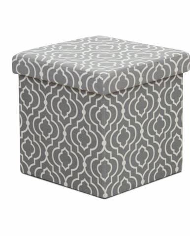Marlo taburetka s úložným priestorom sivá