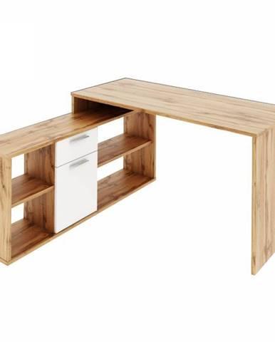 Noe New rohový písací stolík dub wotan
