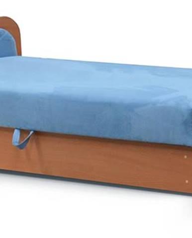 Pinerolo 80 L jednolôžková posteľ (váľanda) s úložným priestorom svetlomodrá