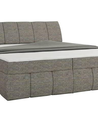 Vareso 160 čalúnená manželská posteľ s úložným priestorom sivá (Berlin 01)