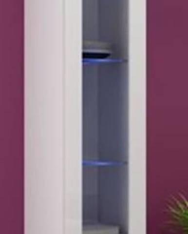 Vigo 180 vitrína na stenu so sklom biela