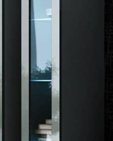 Vigo 180 vitrína na stenu so sklom sivá